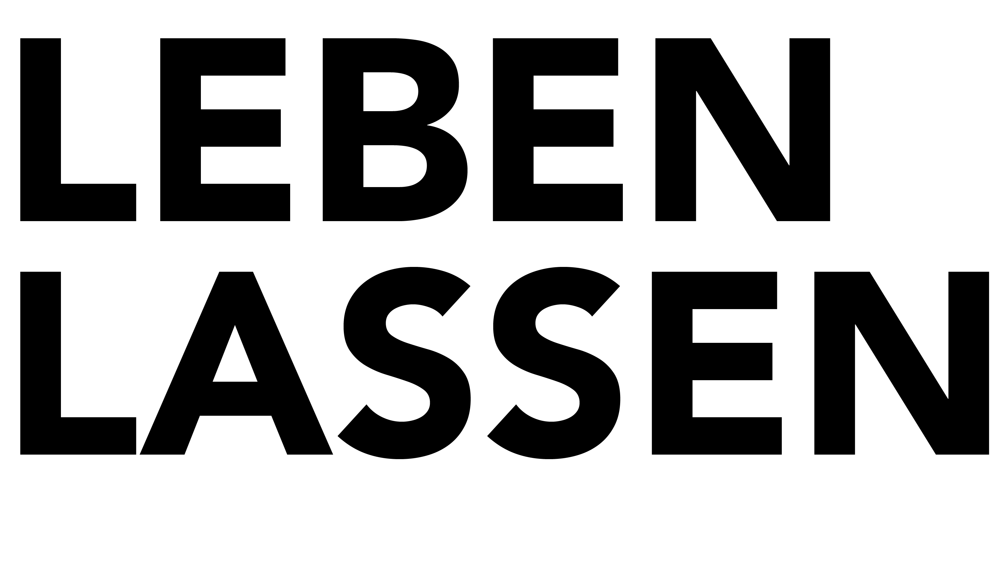 Logo, Leben Lassen, Bildband, Ausstellung